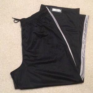 Men's Tek gear pants black with silver stripe
